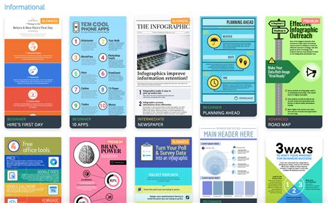 Informational Website Templates by The Top 9 Infographic Template Types Venngage