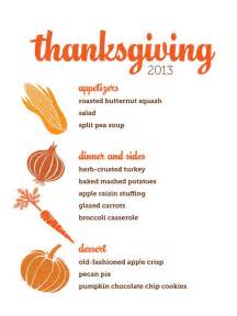 thanksgiving menu template printable customizable thanksgiving menus
