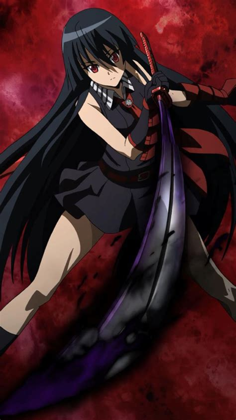wallpaper android anime akame ga kill akame ga kill mobile wallpaper