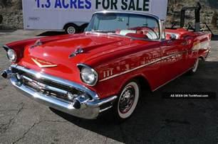 1957 chevrolet chevy convertible belair 57