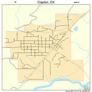 clayton map clayton oklahoma map 4014900