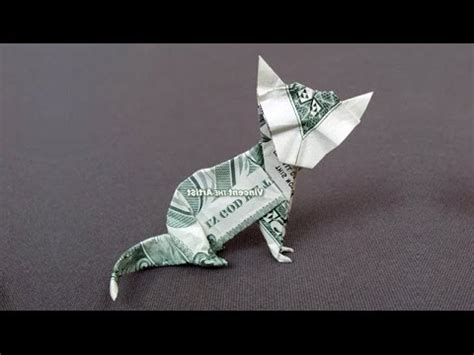 Origami Money Cat - dollar origami cat