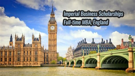 Time Mba Scholarships by Time Mba Imperial Business Scholarships