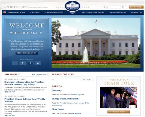 House Websites by The Minute Was Sworn In These Things Disappeared
