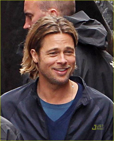 brad pitt world war z hair length full sized photo of brad pitt world war z glasgow set 04