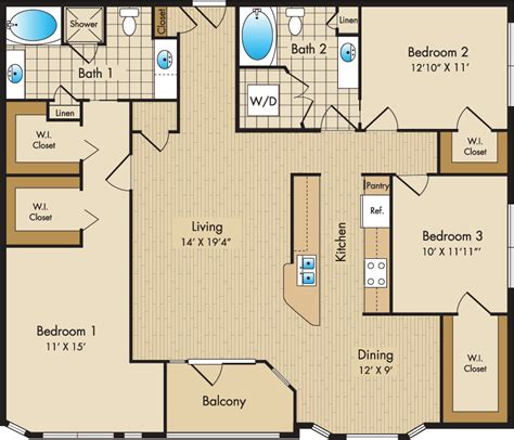 Liberty Place Floor Plans by Plan G The Liberty Place Apartments