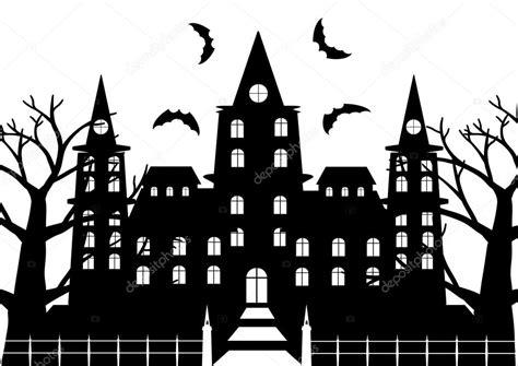 imagenes de halloween a blanco y negro blanco y negro de castillo de terror con 225 rbol muerto y
