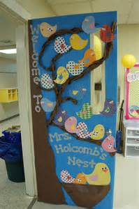 welcome to our nest classroom door decoration idea with