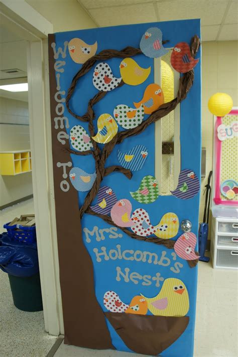 door decorations welcome to our nest classroom door decoration idea with