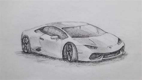 Lamborghini Drawing by How To Draw A Lamborghini Huracan Youtube