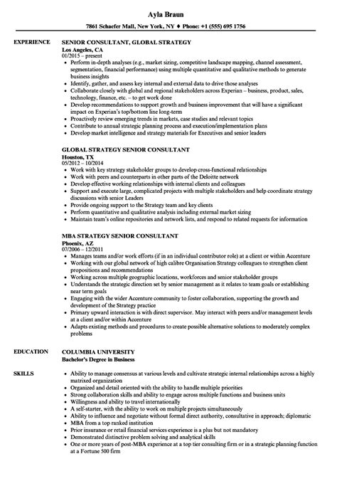 resume it strategy consultant images exle resume