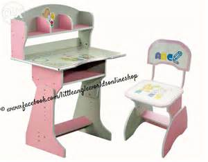 kids study table and chair with shelfs karachi furniture amp home decor