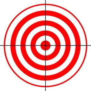Target butt object crosshairs shooting sport