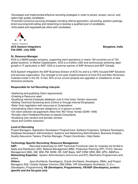 Technical Recruiter Resume Sample – D Correa Resume Technical Recruiter V20111024