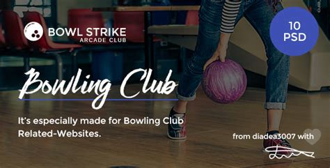 bowling club menu bowl strike bowling arcade club psd template by
