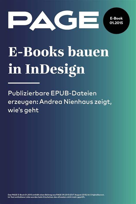 Wie Gibt Maße An by E Books Bauen In Indesign So Geht S Page
