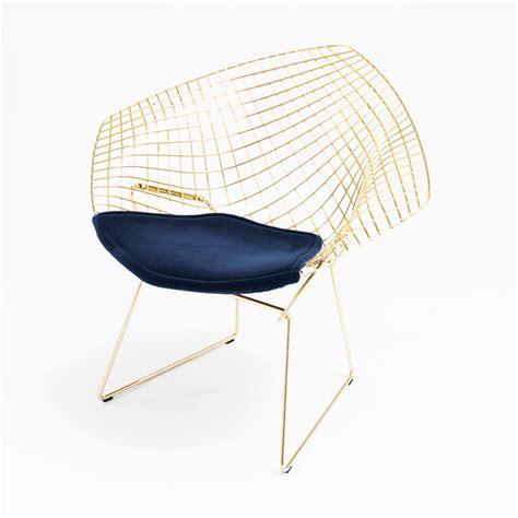 Chair Bertoia by Bertoia Chair In Gold Knoll
