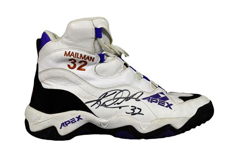 apex basketball shoes lot detail karl malone signed quot mailman quot apex sneaker
