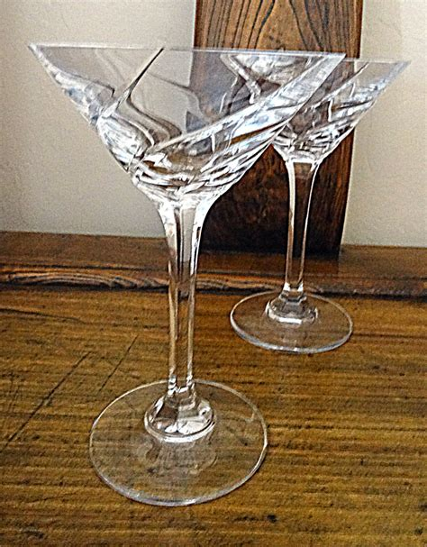 vintage martini glasses vintage 2 lead martini glasses swirl cut design