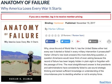 anatomy of failure why america loses every war it starts books this week in proceedings today u s naval institute