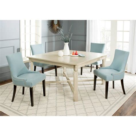 Safavieh Dining Table Safavieh Bleeker White Washed Dining Table Amh6643b The Home Depot