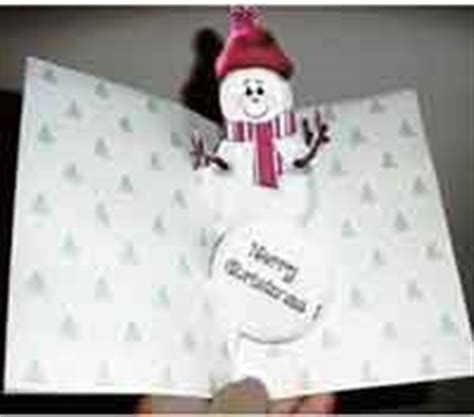 snowman creative pop up card template free card projects and templates at allcrafts