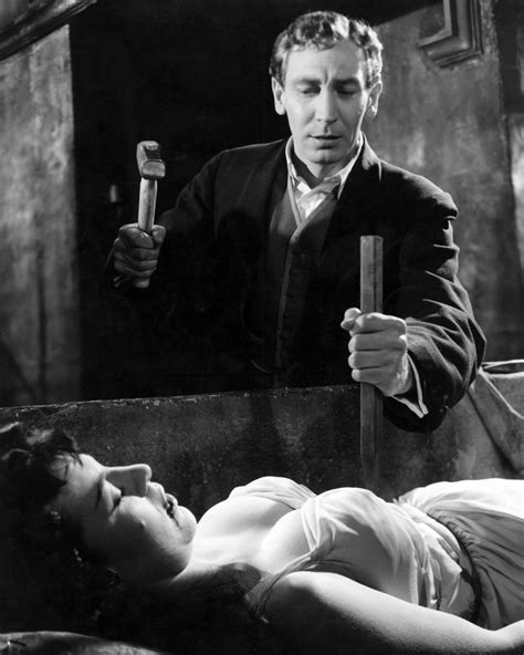 Dracula Hammer 8x10 Photo Michael Gough about to hammer