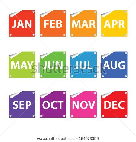 monthly colors 12 month calendar stock images royalty free images