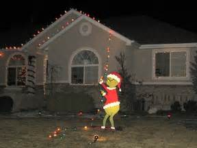 the grinch lights grinch stealing lights house memes