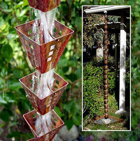 brilliant rain chain ideas garden lovers club