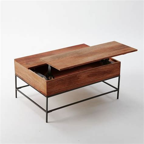 industrial storage coffee table west elm