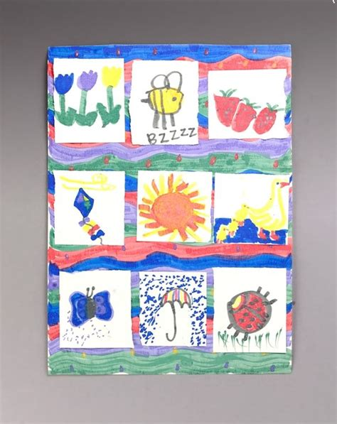 Quilt Paper Craft - garden quilt craft paper plate crafts