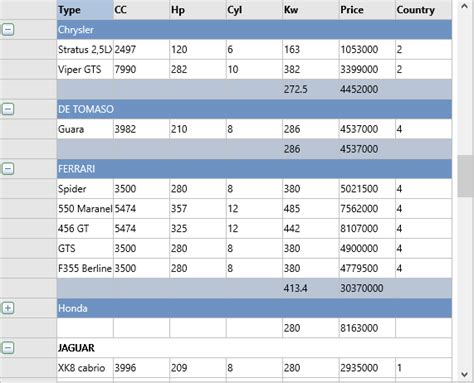 grid layout delphi tms software vcl fmx asp net net controls