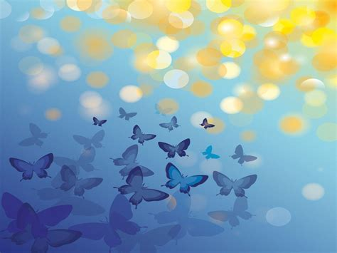 Blue Butterfly Backgrounds Wallpaper Cave Powerpoint Background Butterfly