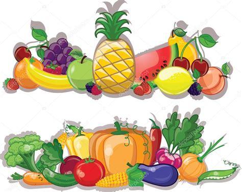 imagenes sin fondo en illustrator dibujos animados de verduras y frutas fondo archivo