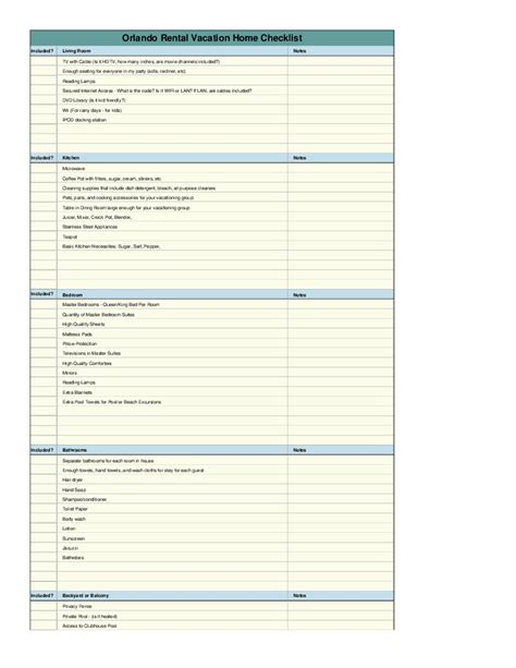rental property checklist template vacation rental home checklist template hashdoc