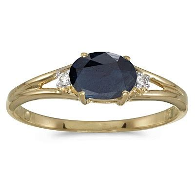 Blue Sapphire 6 55ct oval blue sapphire right ring 14k yellow