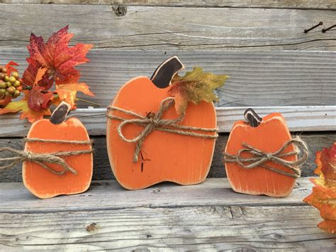 Handmade Fall Decorations - fall decorations primitive fall decor handmade wood