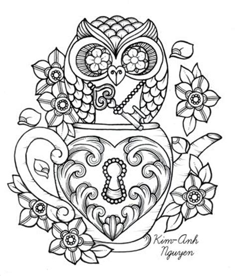 owl heart coloring page coloring coloring pages and owl coloring pages on pinterest