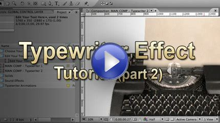 tutorial after effects typewriter typewriter effect for after effects