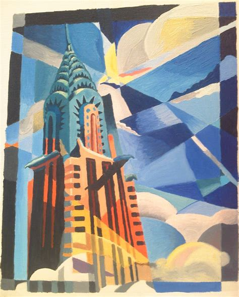 building painting chrysler building by almu92 on deviantart