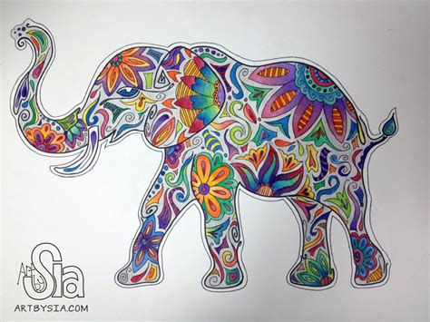 watercolor zentangle tattoo the gallery for gt zentangle elephant