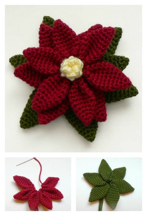 pattern crochet poinsettia crochet poinsettia flower free patterns