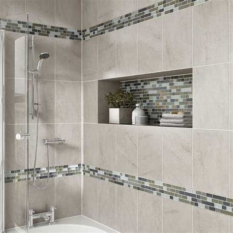bathroom tile mosaic details photo features castle rock 10 x 14 wall tile with