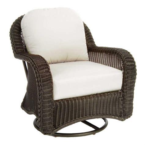 white wicker glider chair classic outdoor wicker swivel glider