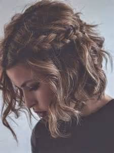 messy braid hairstyles for short hair images
