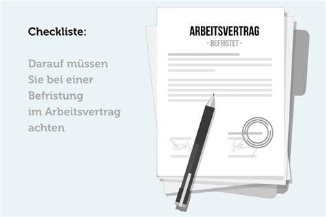 befristeter arbeitsvertrag wann verlängern befristeter arbeitsvertrag checkliste bei befristung