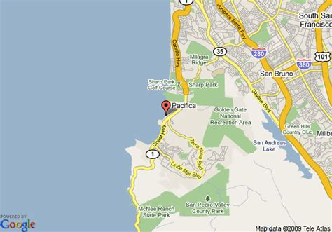 pacifica california map map of best western lighthouse hotel pacifica
