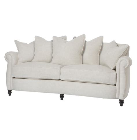 feather down couch cortona classic rolled arm feather down oatmeal condo sofa