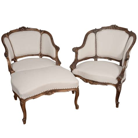 french ottoman furniture 19th c french quot duchesse brisee quot chairs and ottoman at 1stdibs